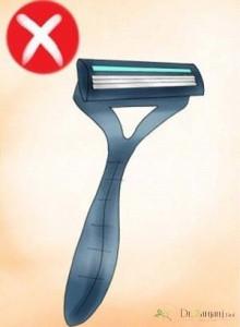 1 – عوارض استفاده از تیغ برای رفع مو های زائد