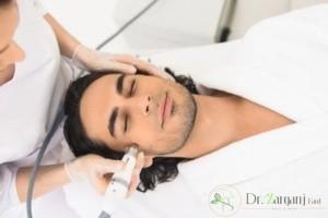آیا لیزر موهای زائد صورت اقایان همراه با درد می باشد؟