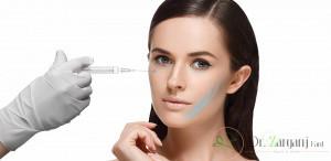 از چه موادی برای تزریق در زیر چشم استفاده میشود؟