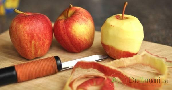 هیدراته کردن پوست صورت با پوست سیب :